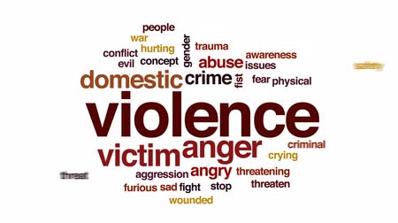 abuso : Violence animated word cloud, text design animation.