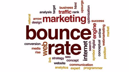 optimalizace : Bounce rate animated word cloud, text design animation.