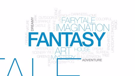 silvicultura : Fantasy animated word cloud, text design animation. Kinetic typography.