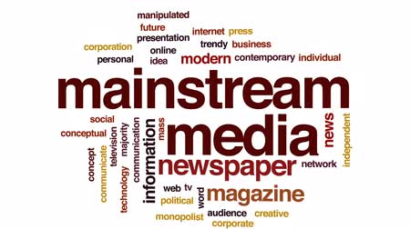 časopis : Mainstream media animated word cloud, text design animation. Dostupné videozáznamy