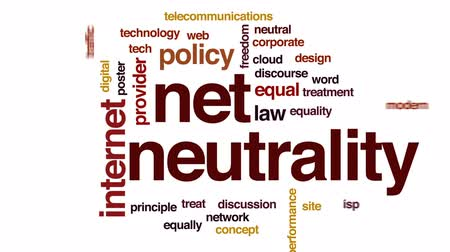 neutrality : Net neutrality animated word cloud, text design animation.