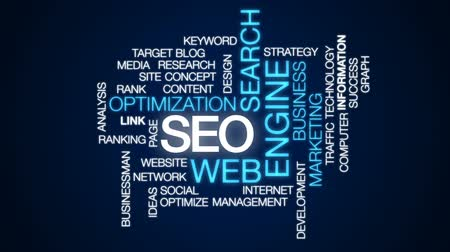 web sites : SEO animated word cloud, text design animation. Stock Footage