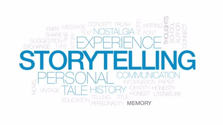 autor : Storytelling animated word cloud, text design animation. Kinetic typography. Vídeos