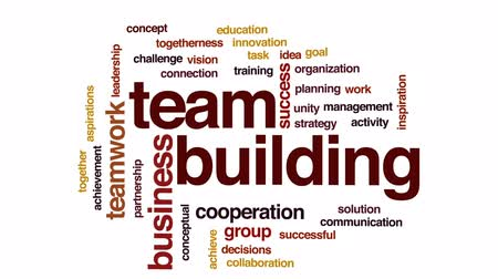 partnerstwo : Team building animated word cloud, text design animation.