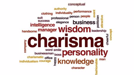 autoridade : Charisma animated word cloud, text design animation.