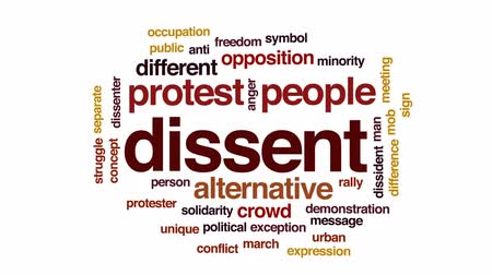 ralli : Dissent animated word cloud, text design animation.
