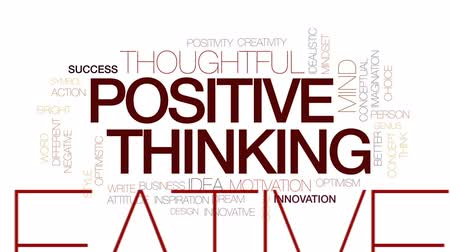 slova : Positive thinking animated word cloud, text design animation. Kinetic typography.