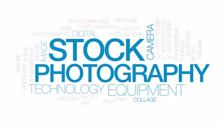 impressão digital : Stock photography animated word cloud, text design animation. Kinetic typography.