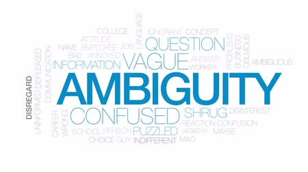 vago : Ambiguity animated word cloud, text design animation. Kinetic typography.