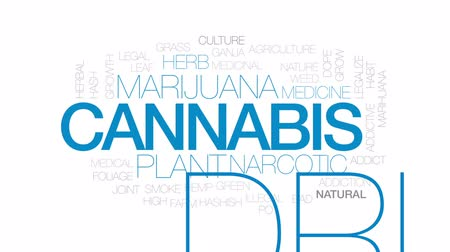 viciado : Cannabis animated word cloud, text design animation. Kinetic typography.