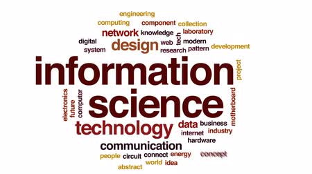 vybírání : Information science animated word cloud, text design animation. Dostupné videozáznamy