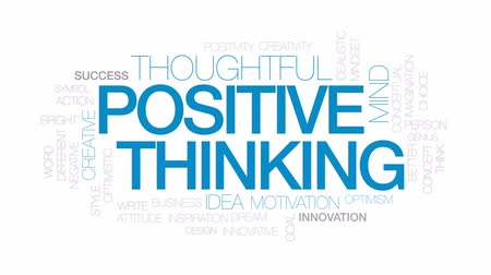 optymizm : Positive thinking animated word cloud, text design animation. Kinetic typography.