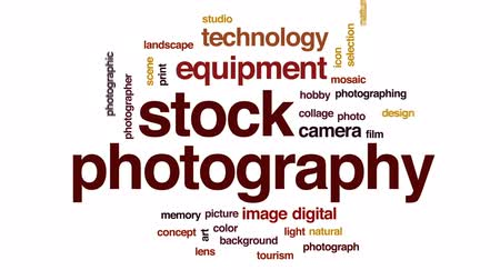 impressão digital : Stock photography animated word cloud, text design animation.