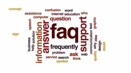 почему : FAQ animated word cloud, text design animation.