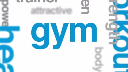 aerobic : Fitness animated word cloud, text design animation.