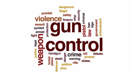 öldürmek : Gun control animated word cloud, text design animation.
