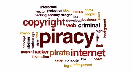 download : Piracy animated word cloud, text design animation.