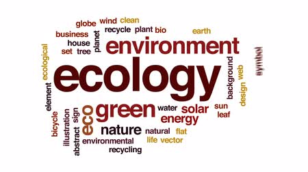 sembol : Ecology animated word cloud, text design animation.