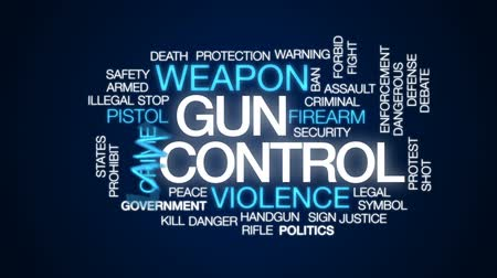forbid : Gun control animated word cloud, text design animation.