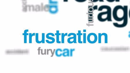 furioso : Road rage animated word cloud, text design animation.