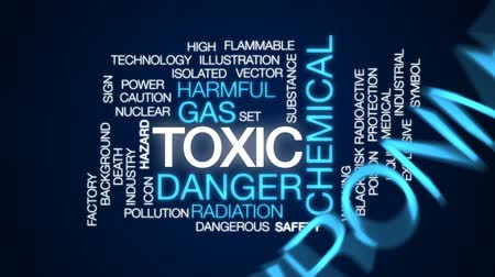 veneno : Toxic animated word cloud, text design animation. Stock Footage