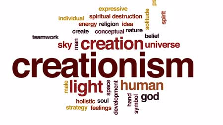 sentido : Creationism animated word cloud, text design animation. Vídeos