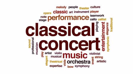 houslista : Classical concert animated word cloud, text design animation. Dostupné videozáznamy