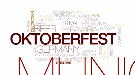 kufel : Oktoberfest animated word cloud, text design animation. Kinetic typography.