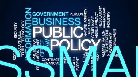 megfelel : Public policy animated word cloud, text design animation. Stock mozgókép