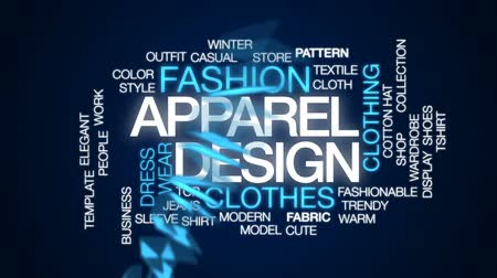 camiseta : Apparel design animated word cloud, text design animation.