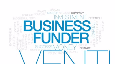 marker : Business funder animated word cloud, text design animation. Kinetic typography.