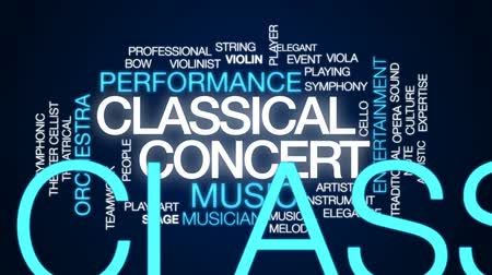 виолончель : Classical concert animated word cloud, text design animation. Стоковые видеозаписи