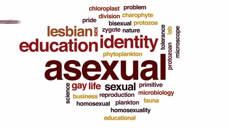 primeval : Asexual animated word cloud, text design animation.