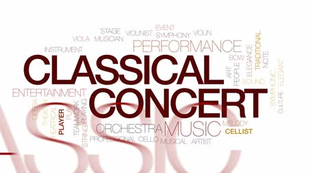 houslista : Classical concert animated word cloud, text design animation. Kinetic typography.