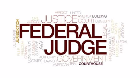 supremo : Federal judge animated word cloud, text design animation. Kinetic typography. Vídeos