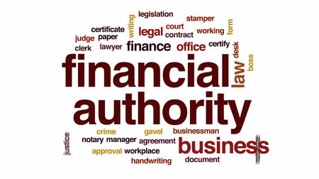 notarize : Financial authority animated word cloud, text design animation. Stock Footage