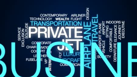 weterynarz : Private jet animated word cloud, text design animation.