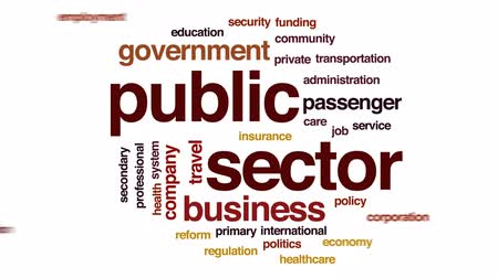 forma : Public sector animated word cloud, text design animation.