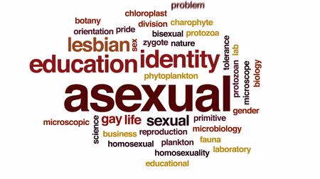 zmysłowy : Asexual animated word cloud, text design animation.