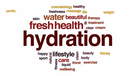 hidratáció : Hydration animated word cloud, text design animation.