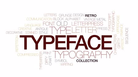 yazarak : Typeface animated word cloud, text design animation. Kinetic typography.