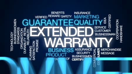 slib : Extended warranty animated word cloud, text design animation.
