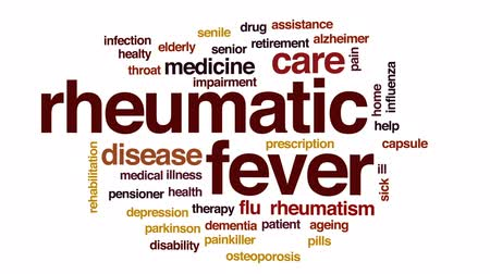 bez szwu : Rheumatic fever animated word cloud, text design animation. Wideo