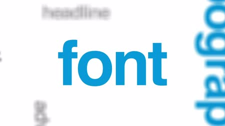 tipo baskı : Sans serif animated word cloud, text design animation. Stok Video