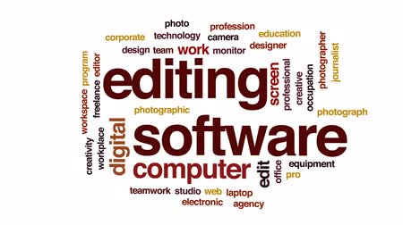 редактировать : Editing software animated word cloud, text design animation.