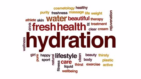 hidrasyon : Hydration animated word cloud, text design animation.
