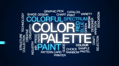 палитра : Color palette animated word cloud, text design animation.