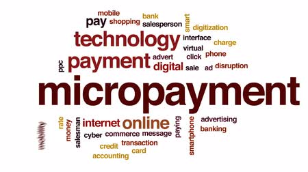 kettyenés : Micropayment animated word cloud, text design animation.
