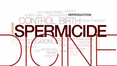 教育 : Spermicide animated word cloud, text design animation. Kinetic typography 影像素材
