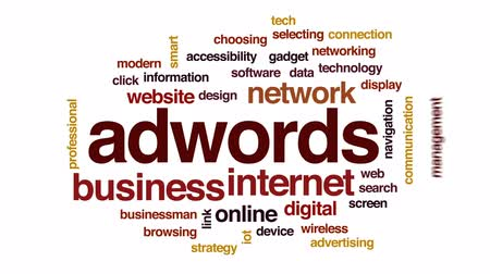 kettyenés : Adwords animated word cloud, text design animation.